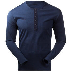 Bergans M's Henley Wool Shirt Navy Melange